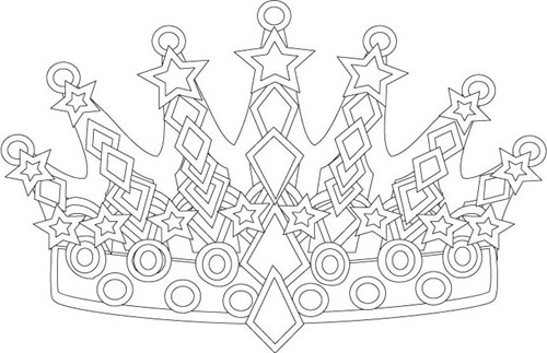 Free Princess Crown Coloring Pages
