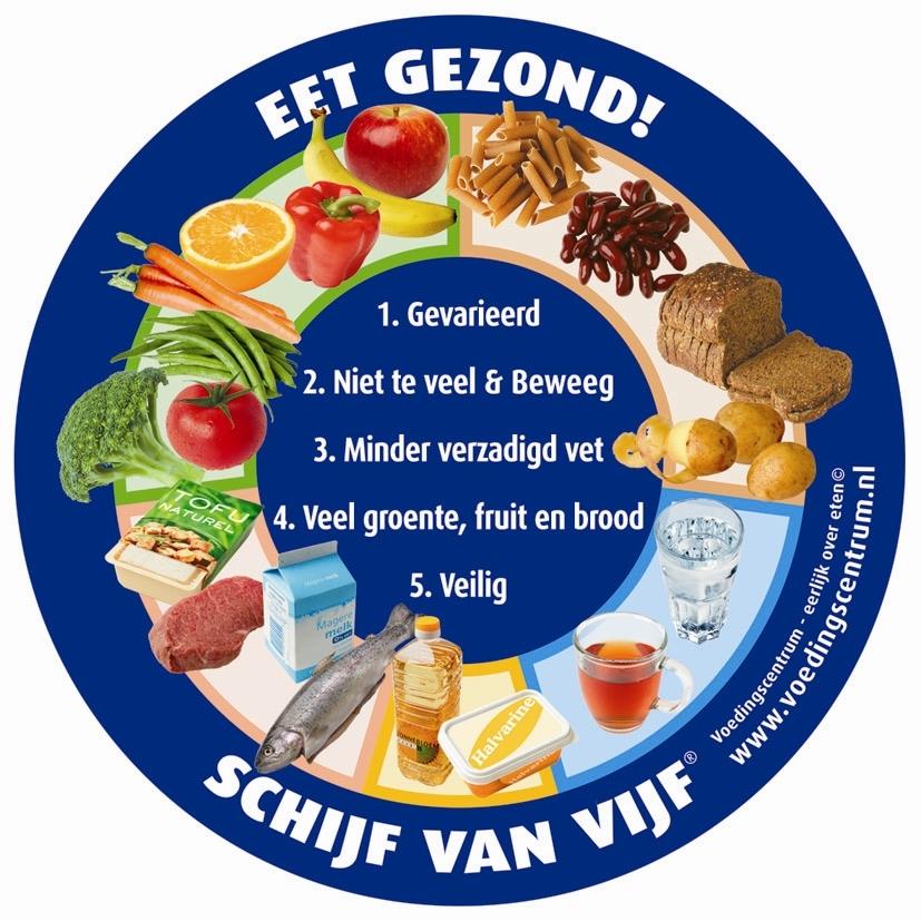 Schijf van vijf voedingsadvies goede voeding gezond eten