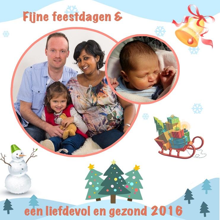 Fijne feestdagen 2016, bevalling en geboorte