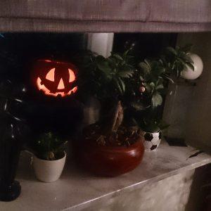 Halloween pompoen buiten