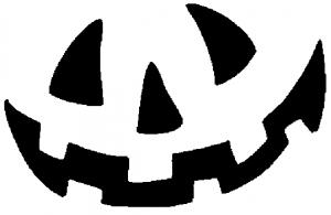 Halloween pompoen tekening