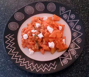 Recept met pompoen en pasta en geitenkaas