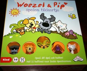 Voorkant spel, Woezel en Pip spelen tikkertje
