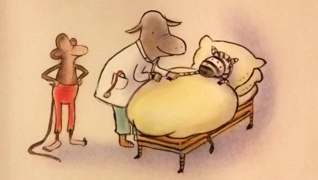Illustratie Dierendorpje in rep en roer, Kinderboeken met liedjes