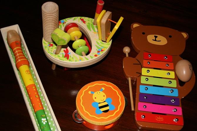 Muziekinstrumenten, Kinderliedjes van Kiddie Carousel