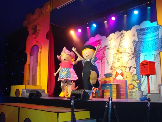 Show van Fien en Teun, pretpark de Julianatoren