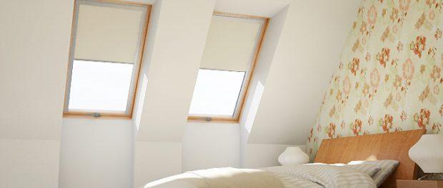 VELUX raamdecoratie op zolder