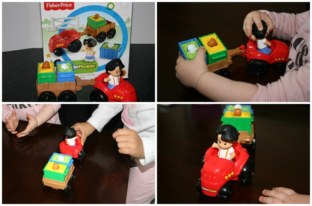 Fisher Price, tractor en trailer, leerzaam speelgoed