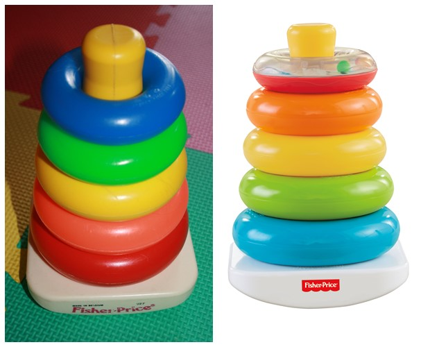 Kleurenringpiramide, Fisher Price, Speelgoed