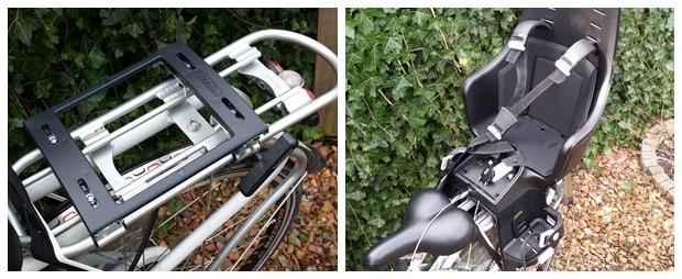 Montage Bobike fietsstoeltje