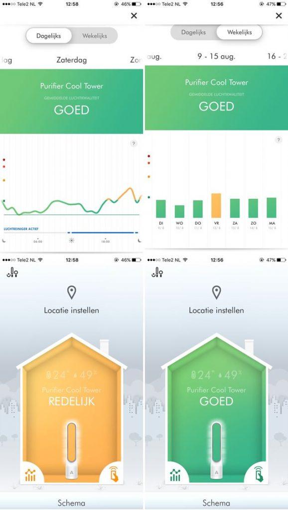 Overzicht Dyson Link app